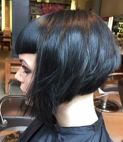 20 Graduated Bob With Bangs Bob Hairstyles 2018 Short