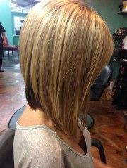 shoulder length angled bob hairstyles
