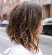 medium length angled bob hairstyles