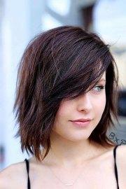 layered bob haircuts with bangs