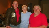 Bob with brother and mother