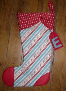 Christmas stocking Bobbins and buttons