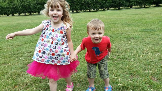 kids clothes bobbins and buttons