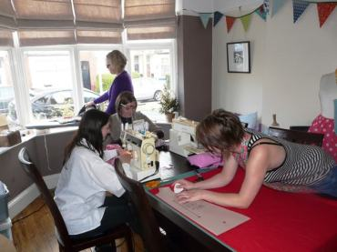sewing class Leicester Bobbins and buttons