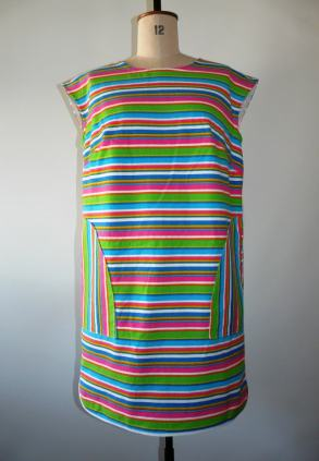 stripe dress bobbins and buttons