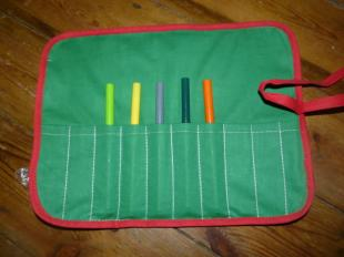 unrolled pencil roll Bobbins and buttons