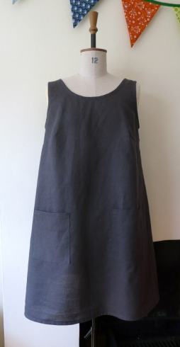 wrap back dress bobbins and buttons