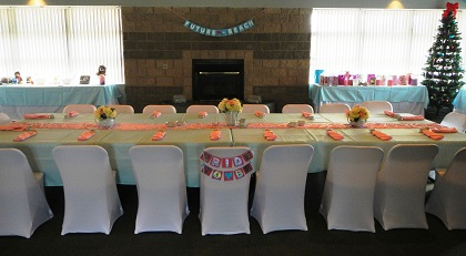 chair cover rentals oakland ca modern leather desk bob b s party covers custom decoration by