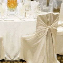 Universal Banquet Chair Covers Outside Hanging Uk Bob B S Party Rentals Cover On A Square Back