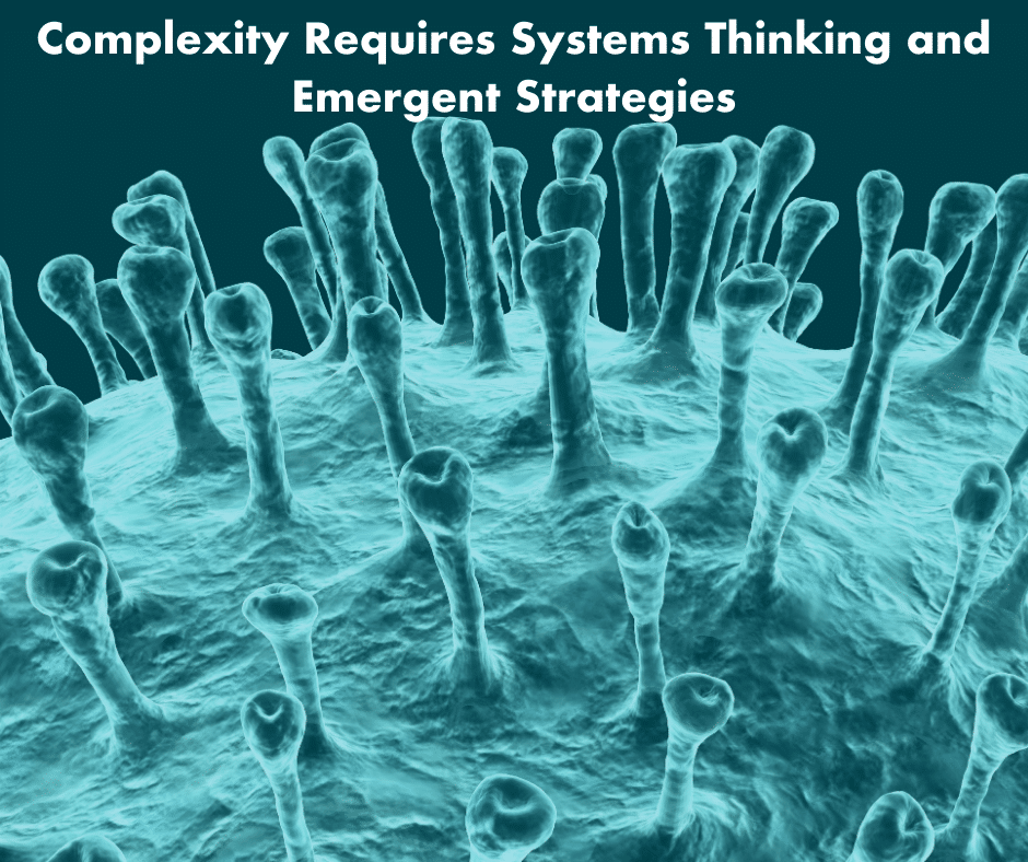 Complexity requires systems thinking and emergence
