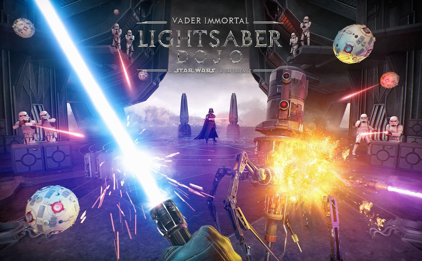 Vader Immortal Lightsaber Dojo Poster (Horizontal)