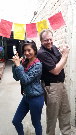 "Leslie insisted Bob do a ""Charlie's Angels"" pose with her"