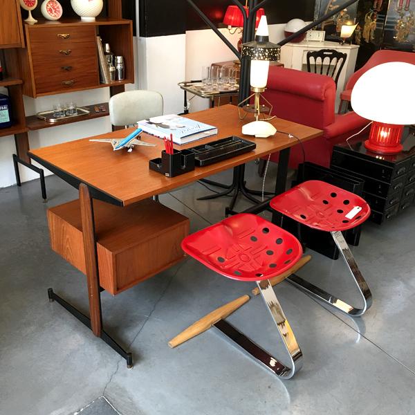 scrivania anni 50 in tek Bobeche vintage store