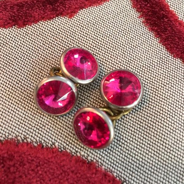 gemelli vintage rosa fucsia Bobeche
