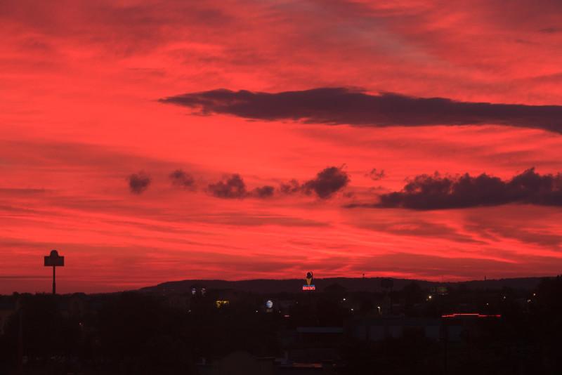 14198_2267. Morning red sky, Springdale, Arkansas