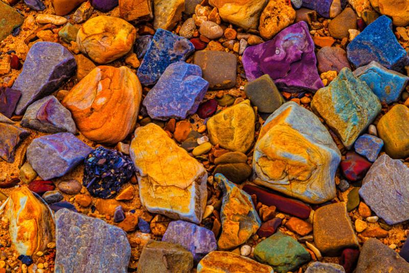 10076. Colorful rocks, Arkansas River, Dardanelle, Arkansas