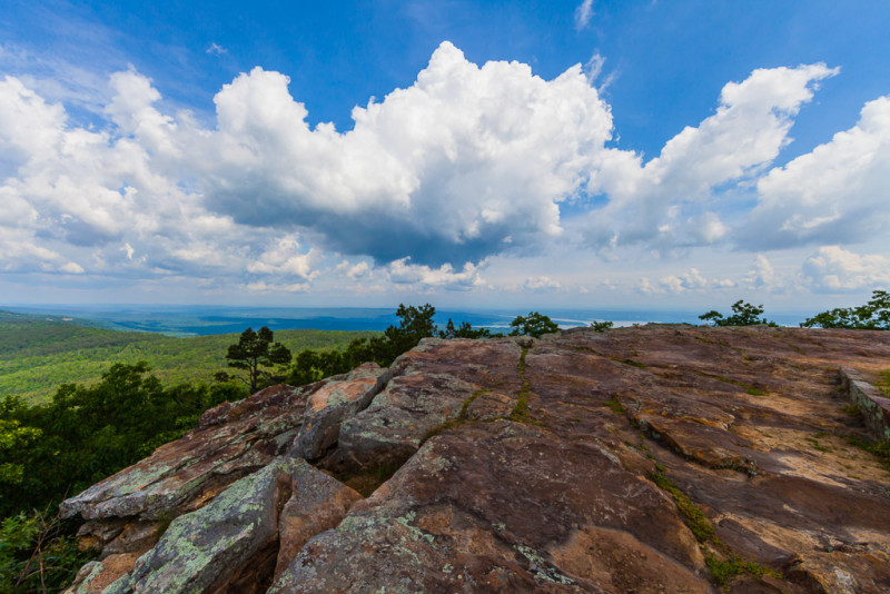 10154. Clouds over Sunset Point, Mt. Nebo State Park, Arkansas