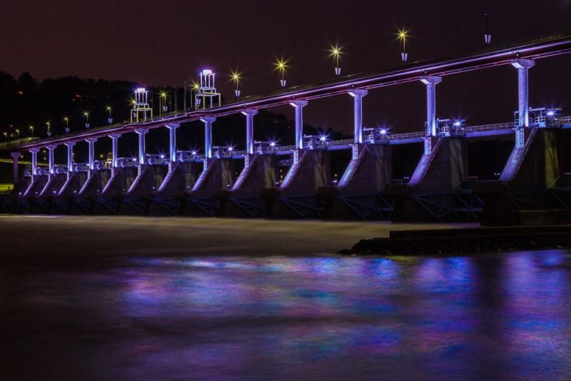 10335. Big Dam Bridge at dawn, Arkansas