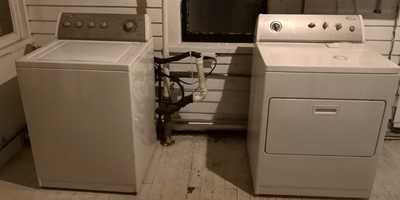 Front View: Washer and Dryer