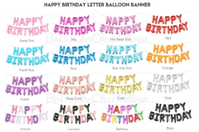 16 Inch HAPPY BIRTHDAY letter foil balloons Banner – Hot Pink