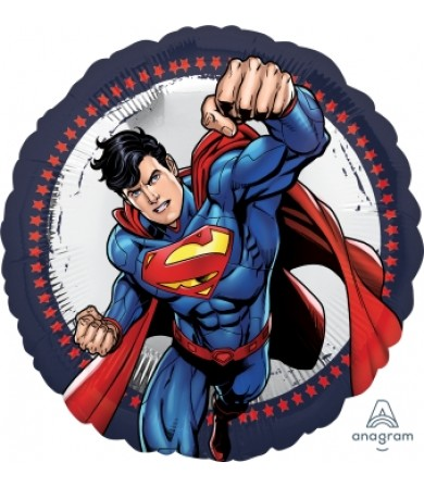 [SUPERMAN] 18inch HAPPY BIRTHDAY Superman Foil Balloon