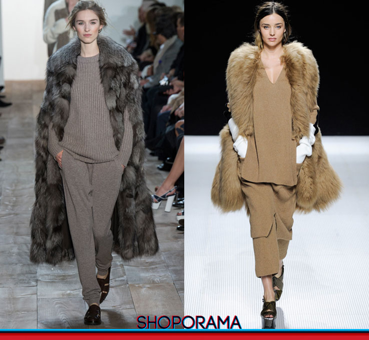 Michael Kors e Sonia Rykiel,shoporama.it,Miranda Kerr,tricot,lana,sfilata,volpe,fashion,style
