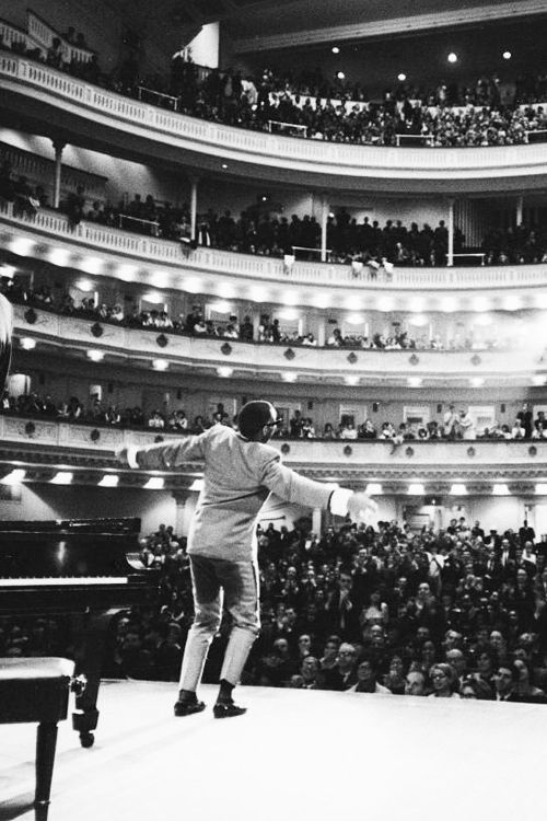 Ray Charles at Carnegie Hall, photographed by Billy Ray, 1966