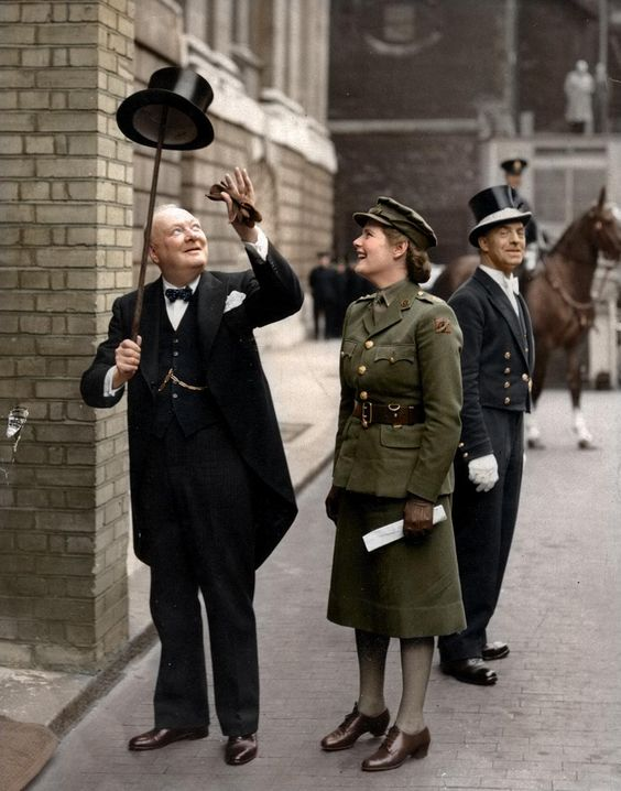 winston-churchill-and-his-daughter-mary-spencer-churchill-in-london-1943