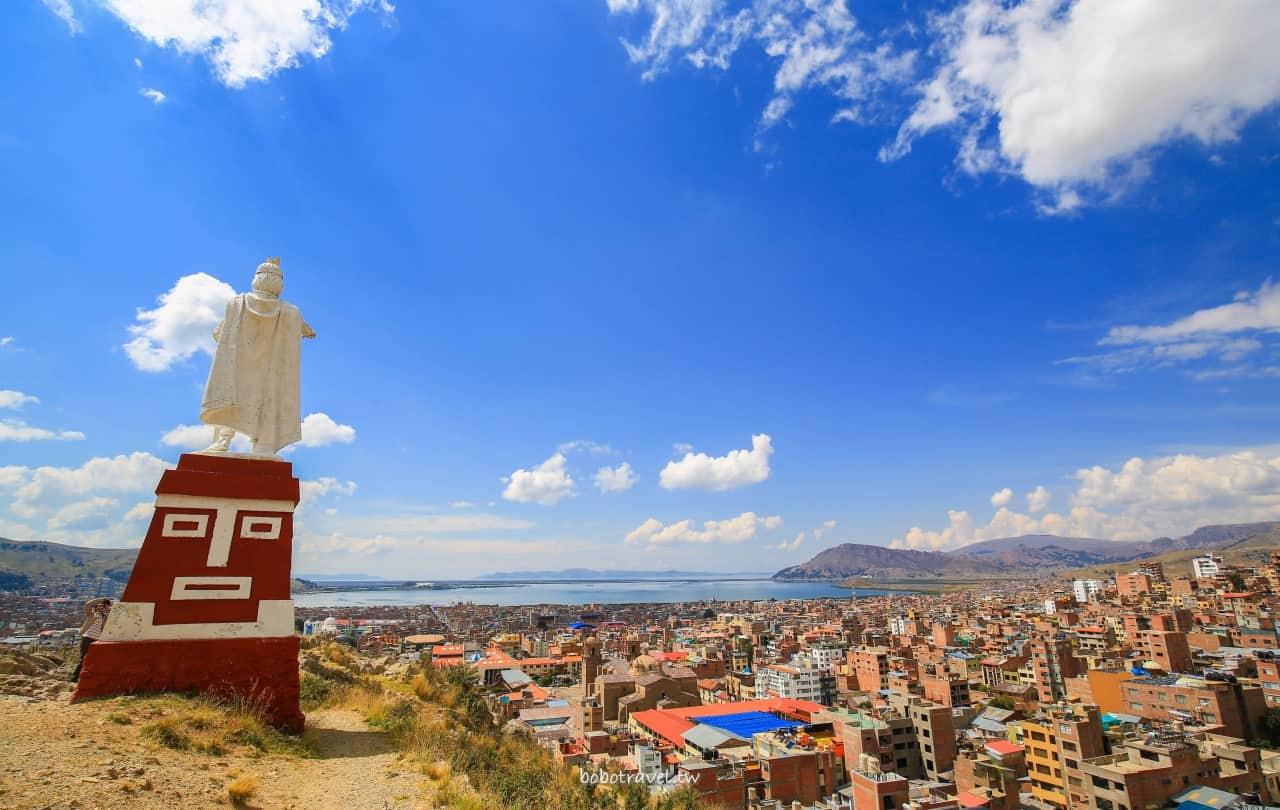 秘魯、PUNO景點 DAY6-1 普諾。和印加開國皇帝Manco Capac 一起俯瞰高原小鎮