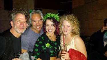 Ruby Flabmé and musician friends: Bob Paltrow, David Weiss, Bailey Ann Martinet, Brooke Minkler