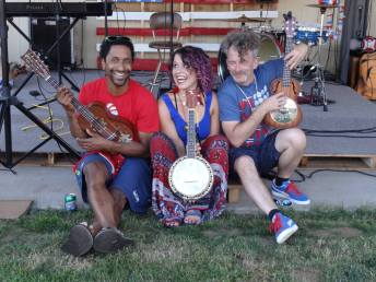 Ruby Flambé - (l to r) David Vaughns, Bailey Ann Martinet, Bob Paltrow Grovestock July 4, 2015