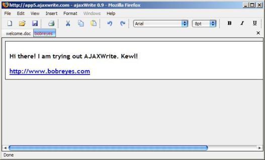 AJAX Write