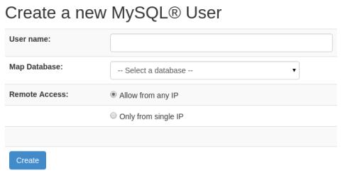sentora-user-mysql