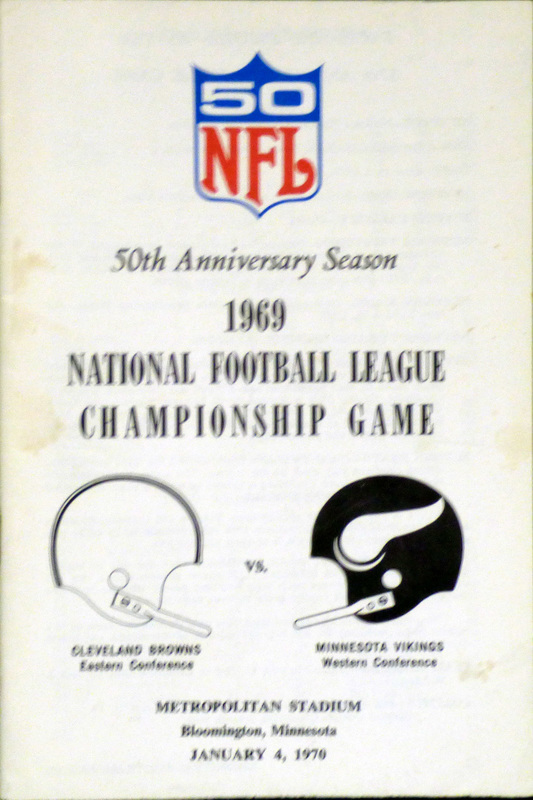Image result for minnesota cleveland 1969 nfl championship program images