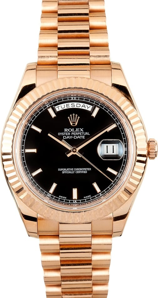 Rolex President Day Date II Rose Gold Dial - Save $1.000's