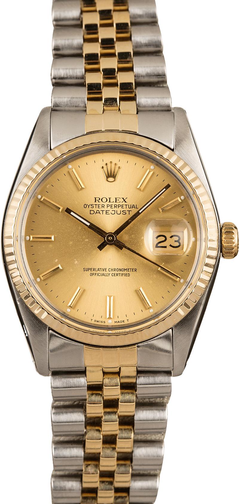 Buy Used Rolex Datejust 16013 | Bob's Watches - Sku: 129562