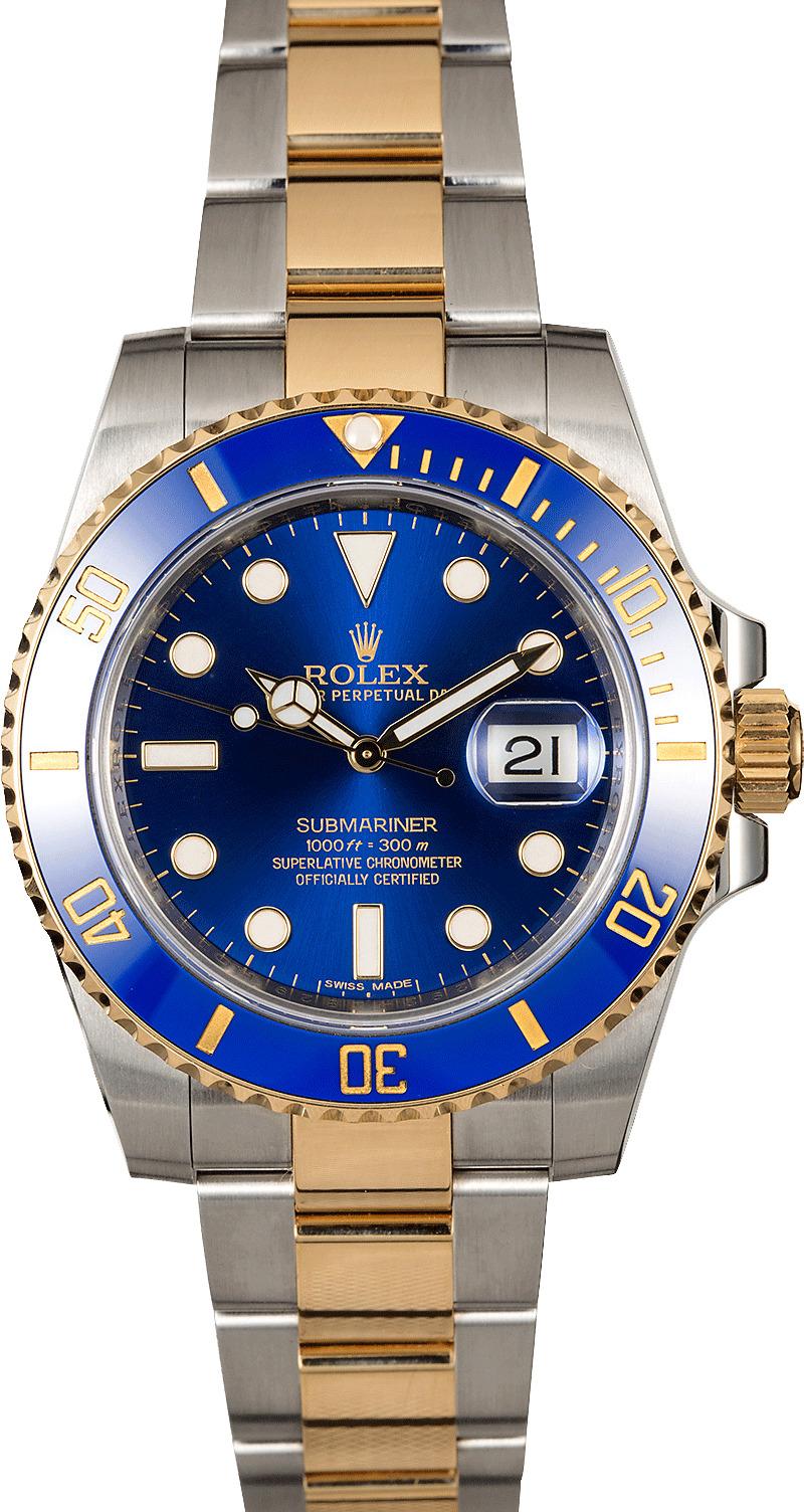 Rolex Ceramic Submariner 116613 Sunburst Blue Dial