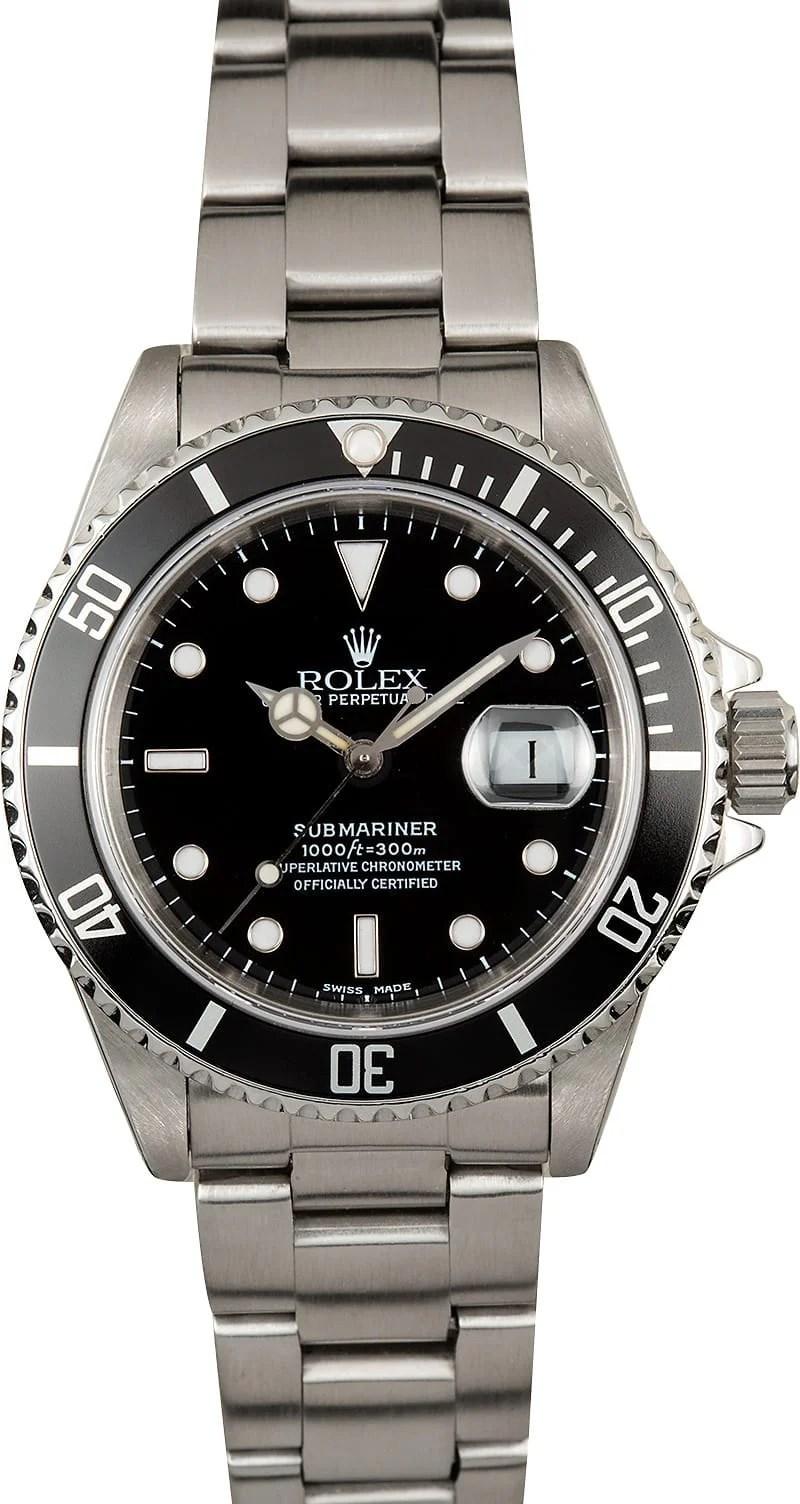Rolex Submariner 16610 Black Dial Watch