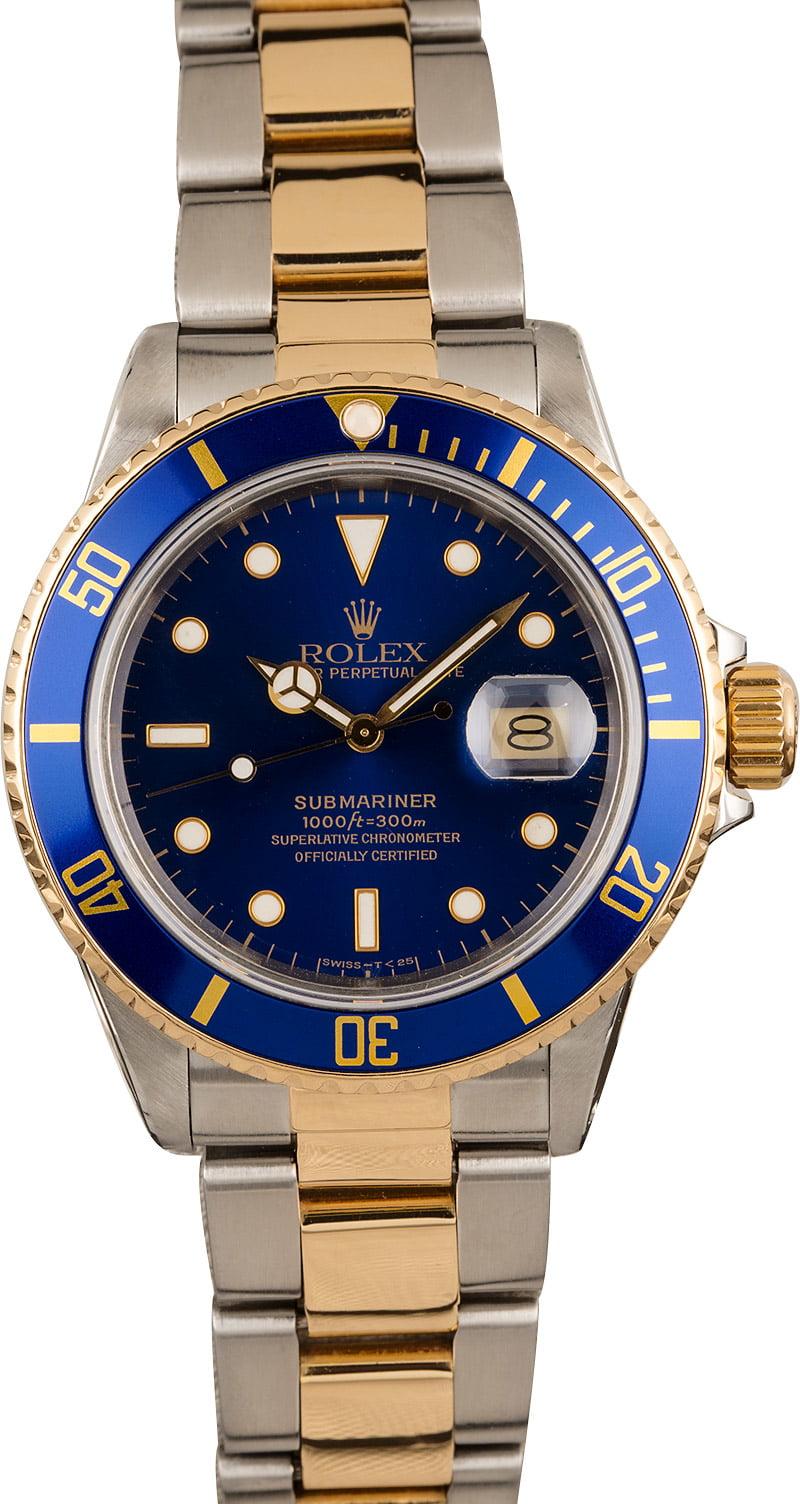 Rolex Submariner 16803 Blue Dial