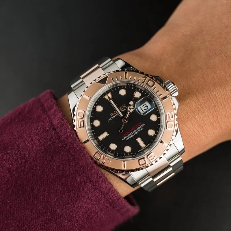 Rolex Yacht Master 116621 Two Tone Everose Oyster Band