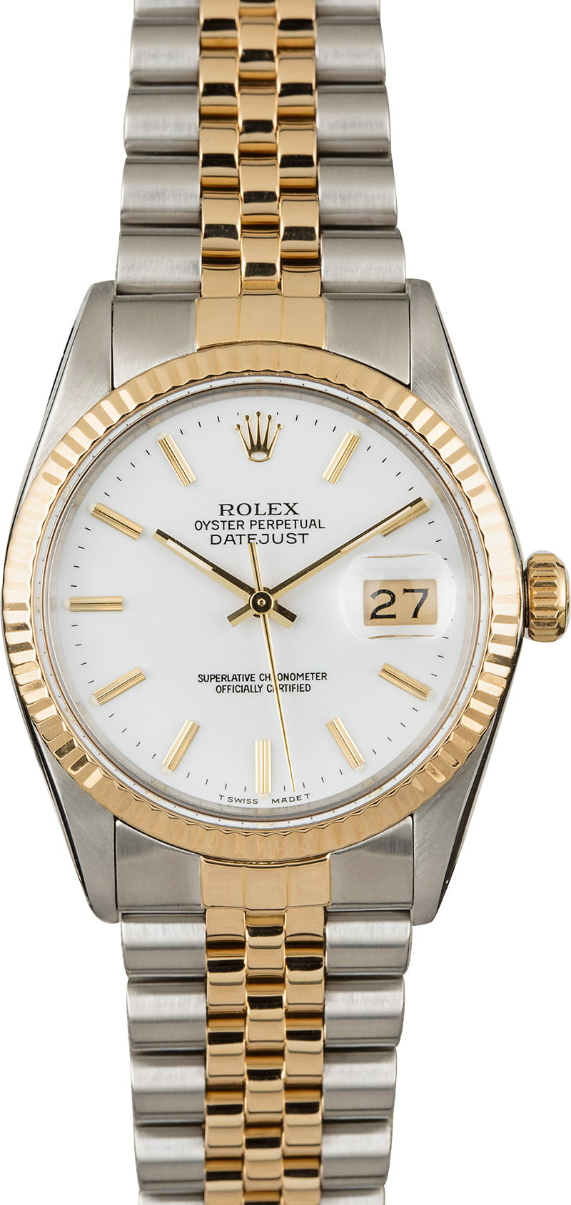 PreOwned Rolex Datejust 16013 White Index Dial
