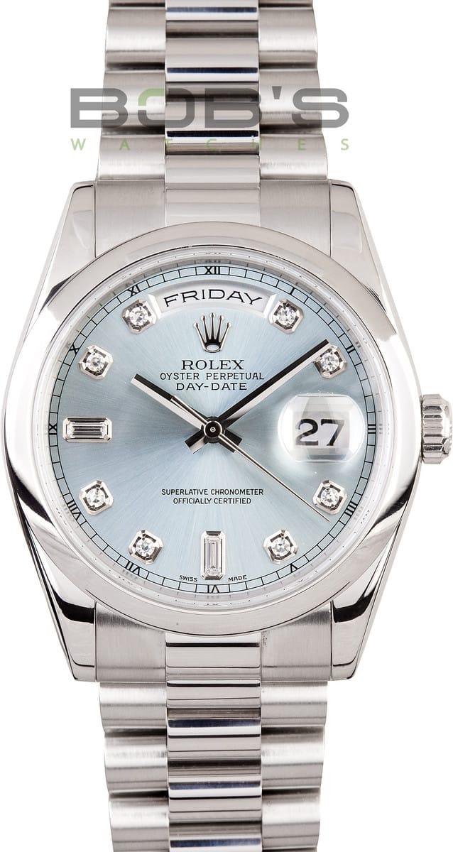Buy Rolex Day Date 118206 Platinum Presidential II Glacier