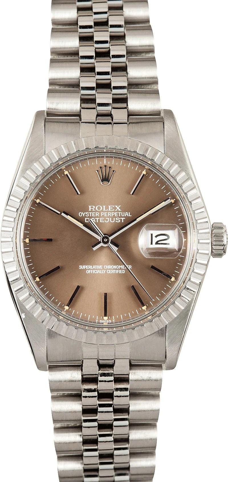Mens Rolex Datejust 16030 Bronze Dial Buy Rolex At Bobs