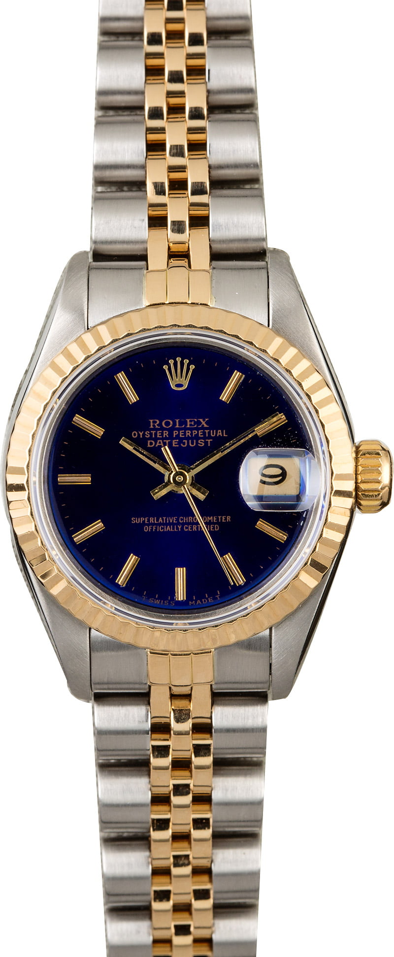 Rolex Datejust 69173 Blue Dial Ladies Watch