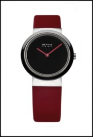 Ladies Bering watch with red band
