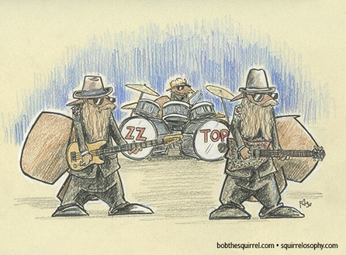 ZZ Top - Billy Gibbons Frank Beard Dusty Hill as squirrels