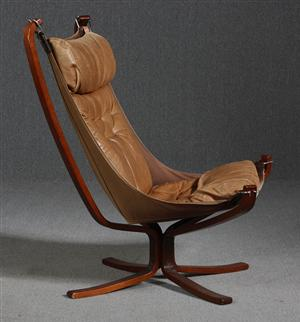Sigurd Resell The Falcon Chair with high back