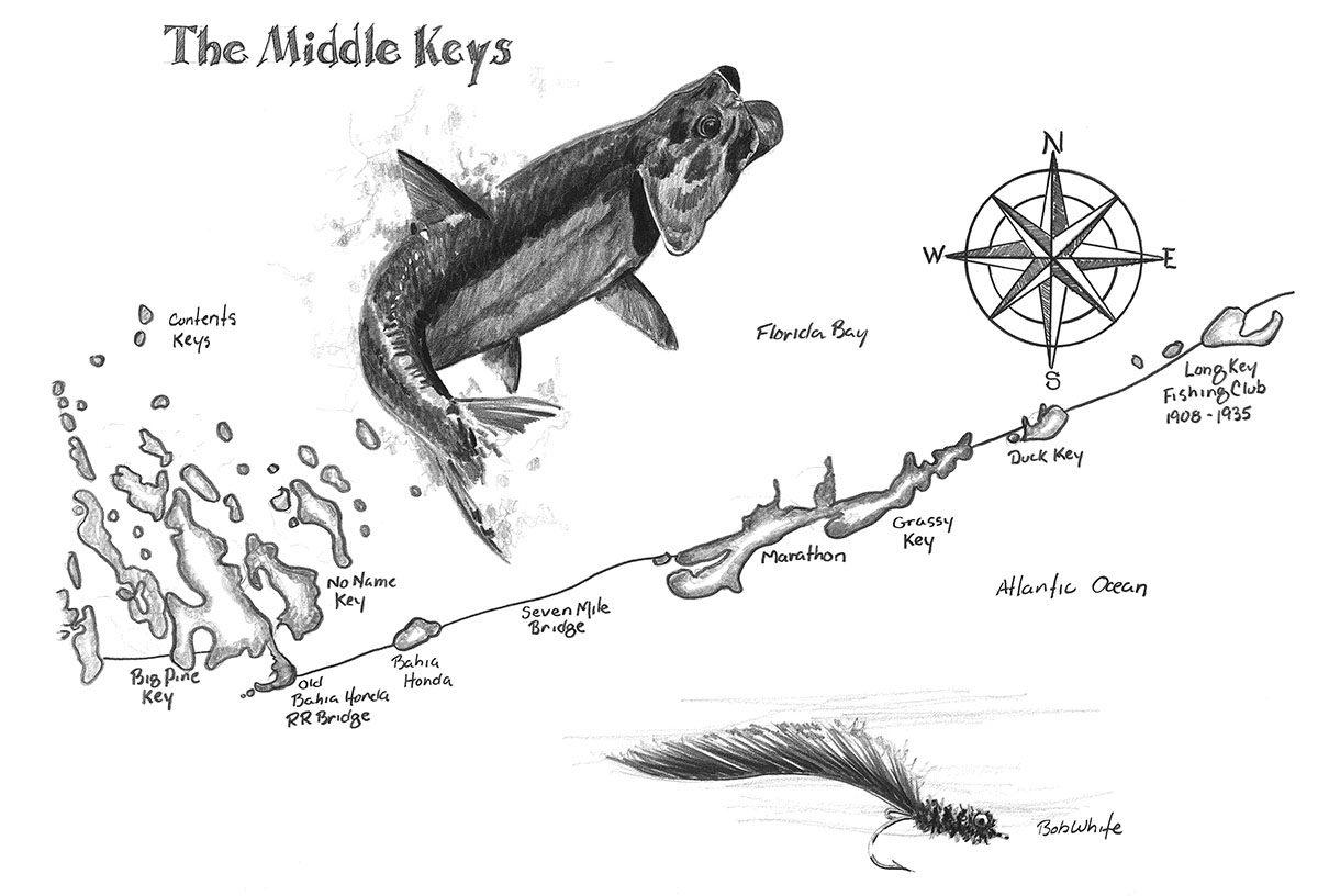 The Grand Slam Three Maps Of The Florida Keys Original