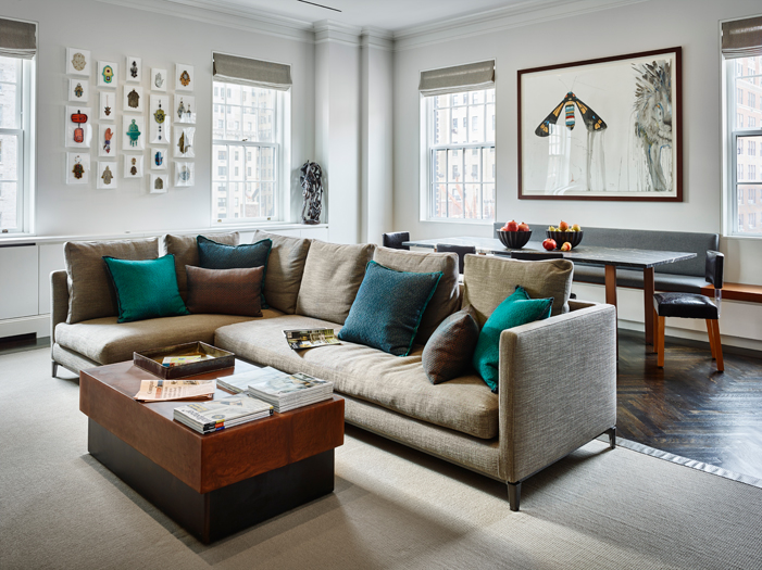 new living room design with 2 couches and chairs modern designs by rachel laxer interiors york duplex