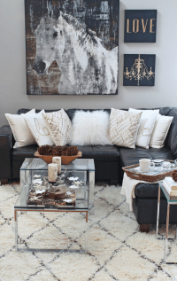 15 Black and White Living Room Ideas